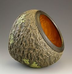Jacques Vesery - a wooden vessel from his Pleiades Series