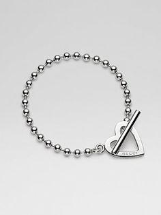 Gucci Sterling Silver Heart Bracelet #valentine