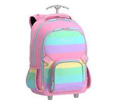 Rolling Backpack, Fairfax Rainbow Stripe