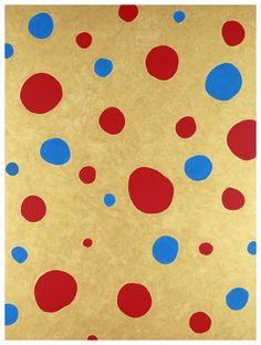 "hipinuff: "" Yayoi Kusama (Japanese, b. 1929), Obliteration of Stars. 2010 Acrylic on canvas """