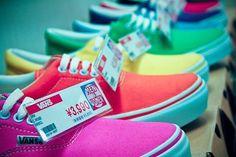 neon colored Vans shoes