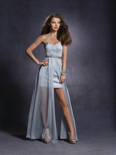 Romantic Vampire by Alfred Angelo 4018  Twilight Prom 2012  Chiffon over Charmeuse, Rhinestones,  Crystal Beading, Sequins  Optional Halter Straps  Floor Length  Colors: Silver Mist, Electric Purple, Pink