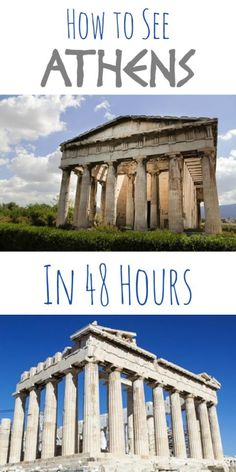 How to See Athens in 48 Hours. I love the architecture from Athens and Greece would be incredible to see. Greece Vacation, Greece Travel, Greece Honeymoon, Greece Trip, Greece Tourism, Greece Cruise, Greece Itinerary, Visit Greece, The Places Youll Go