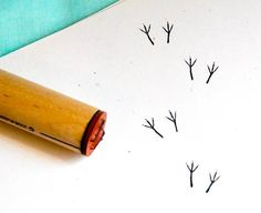 Bird Tracks  Rubber Stamp. via Etsy.