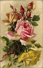 Artistes AK Klein, Caterina, roses, jaunes et roses Fleurs - 1532397