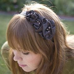 Brown flower headband headbands for women by BeSomethingNew