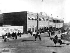 Fenway Park on opening day 1912.  I'll just park my horsie over here!