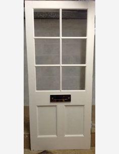 6 lite half glazed Victorian front door by Historic Doors Front Door Entryway, Front Door Makeover, Front Door Decor, Black Front Doors, Back Doors, Garage Door Lights, Door Frame Molding, Patio Door Coverings, Victorian Front Doors