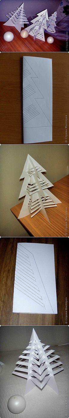 Árboles de Navidad hechos de papel