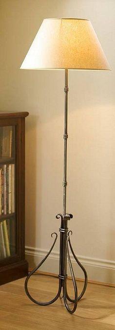 Handforged wrought iron shepherd's crook standard lamp