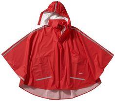 Pončo pláštěnka bunda vhodná i přes batoh > varianta červená