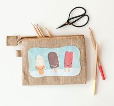 Carry your office or art supplies in this super cute DIY Ice Cream pencil case from Joann.com