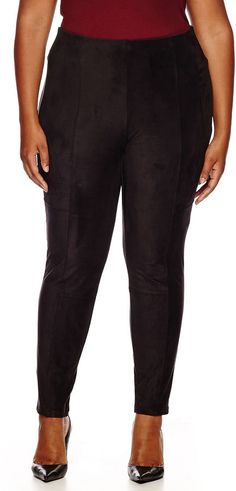 WORTHINGTON Worthington Stretch Faux-Suede Leggings - Plus ** Check out the image by visiting the link.