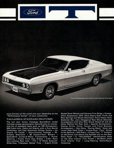 Vintage Advertisements, Vintage Ads, Car Brochure, Ford Torino, Car Advertising, Us Cars, Brochures, Classic Cars, Automobile
