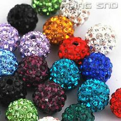 Wholesale - 10mm Czech Crystal Clay Disco Balls Beads  Our Disco Ball Are - Premium Quality!