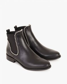 BOTKI 070 -0145-CZARNY Chelsea Boots, Ankle, Spring, Shoes, Fashion, Moda, Zapatos, Wall Plug, Shoes Outlet