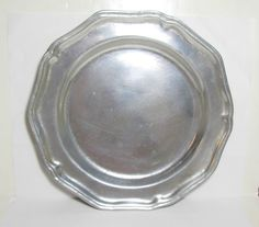 """Vintage Wilton Armetale Pewter Queen Anne 9"""" Salad Plate Columbia, PA"""