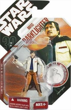 STAR WARS : Costumes and Toys : Star Wars Action Figure - 30th Biggs Darklighter from A New Hope with Exclusive Collector Coin - 30th Anniversary