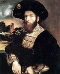 Dosso Dossi - Ritratto di un uomo con cappello nero