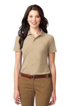 Port Authority Ladies Stain-Resistant Polo. L510 Stone