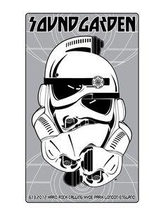 Tonight's Soundgarden London Poster by Frank Kozik