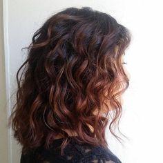 mahogany balayage for dark brown hair