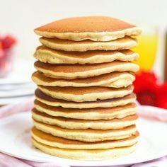 Breakfast Dessert, Breakfast Recipes, Yummy Pancake Recipe, Crepes And Waffles, Buttermilk Pancakes, Cooking Time, Love Food, Sweet Recipes, Delicious Desserts