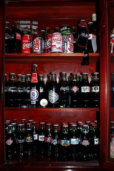 Coca Cola display Coca Cola bottle collection they beat mine!!! •__• (spare room)