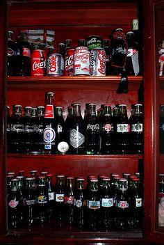 Coca Cola display  Coca Cola bottle collection