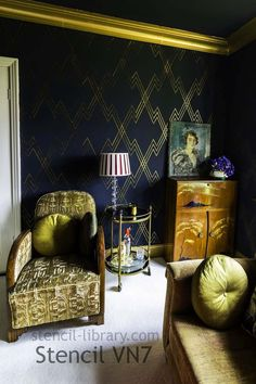 Art deco design decoration living rooms Ideas for 2019 Wallpaper Art Deco, Room Wallpaper, Black Wallpaper, Wallpaper Ideas, Wallpaper Bible, Interior Wallpaper, Beautiful Wallpaper, Geometric Wallpaper, Screen Wallpaper