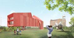 David Adjaye designs red concrete museum in Texas