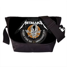 Rock Band Metallica Messenger Bag Young Men Women Street Punk Shoulder Bags Nirvana Travel Bag Skull Cross Bags For Teenagers