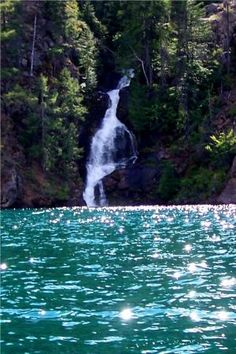 The Falls on Lake Chelan! Going camping here in a few weeks!