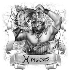Pisces by on deviantART Zodiac Art, Pisces Zodiac, Zodiac Signs, Horoscope, Pisces Love, Black And White Artwork, Sun Sign, Deviantart, Mermaids