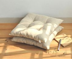 100 Linen Chair Padchair Cushionstool By SamanthaAndYoona On Etsy 2400