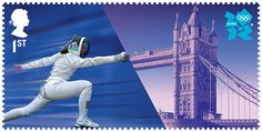 olympic stamp london 2012  FENCING