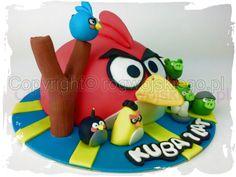 tort angry birds, angry birds cake, tort dla dziecka, pomysł na tort, prezent dla dziecka