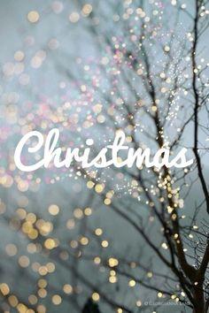 Christmas. with bokah lights.