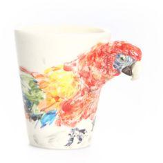 Blue Witch Ceramics Parrot Mug Red on shopstyle.com