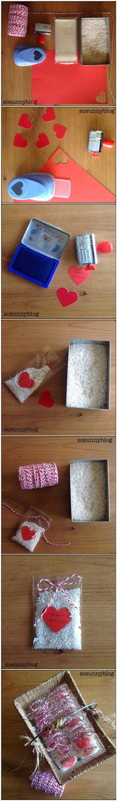 So easy rice wedding packaging, just for very special wedding :-) Arroz para bodas muy especiales, otra manera de presentarlo