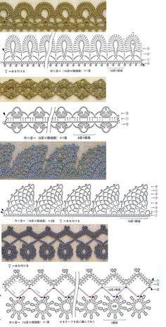 Puntillas de crochet. Siempre son útiles. / Crochet edgings! these are so pretty!