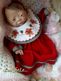 From the Kameko Kit  Reborn Baby Doll 19 inch Baby Girl Leah Completed Baby - Available After Christmas