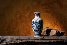 Ceramic - blue delft vase Keramiek - Delftsblauwe vaas