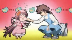 Fujimoto-san teasing Kobato-chan from Kobato