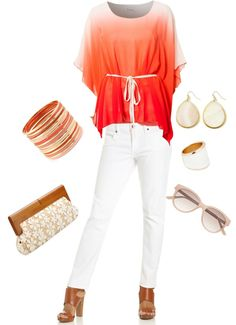 """""""summer party outfit."""" by offthecuffaccents on Polyvore"""