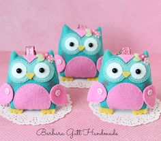 Barbara Handmade...: Sowy trojaczki / Triplets owls