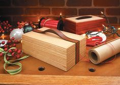 Ribbon Handle Box   Woodsmith Plans - This imaginative design not only makes a wonderful gift, it's also a great way to build your woodworking skills.  Building boxes is a fundamental woodworking skill. After all, the techniques used to build a box are also key to many furniture projects. And when you consider the added scrutiny a small project receives, your woodworking skills, and attention to detail, will be put to the test.