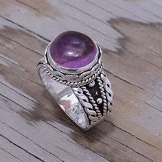 """‼️Clearance‼️Sterling Silver & Amethyst Ring Stamped """"925 MA-136"""". Manufacturers ID  This is not a stock photo. The image is of the actual article that is being sold  Size: 10.5  Sterling silver is an alloy of silver containing 92.5% by mass of silver and 7.5% by mass of other metals, usually copper. The sterling silver standard has a minimum millesimal fineness of 925.  All my jewelry is solid sterling silver. I do not plate.   Hand crafted in Taxco, Mexico.  Will ship within 2 days of…"""
