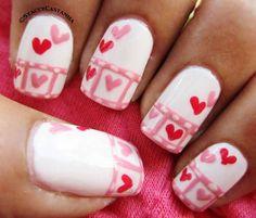 heart filmstrip nail art :: stacey casta - http://yournailart.com/heart-filmstrip-nail-art-stacey-casta/ - #nails #nail_art #nail_design #nail_polish