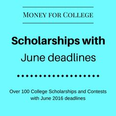 This edition of Scholarship Saturday features 45 college scholarships and contests with upcoming deadlines deadlines. There is a lot of scholarship money available – apply today!
